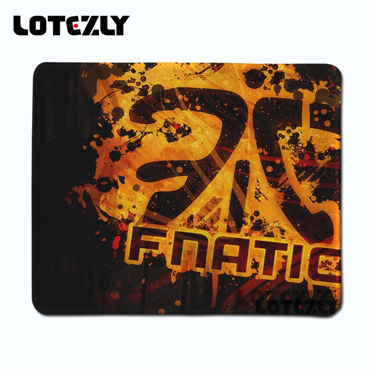 Hot Sale High Quality Rubber Mousepad Fnatic Logo Printing Game Mice Pad Laptop Notebook Mousemat Speed Mats 220X180MMAnd25X21CM