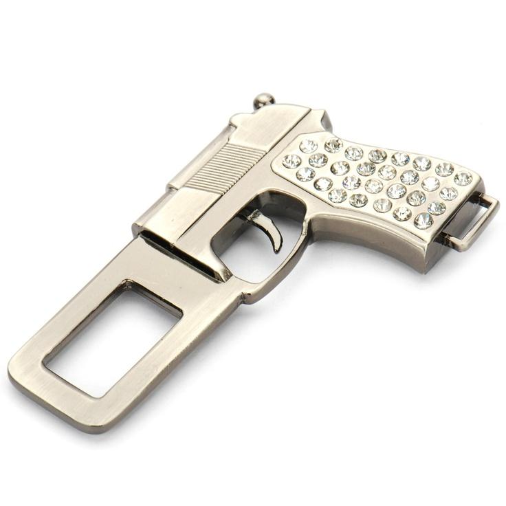 Universal Gun Shaped Stainless Steel Safety Seat Belt Buckle