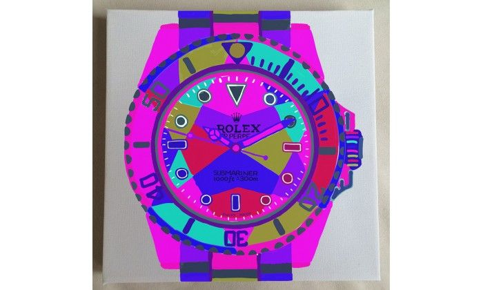 Submariner HOT PINK POP ART Watch On White - Limited Edition of 20 only