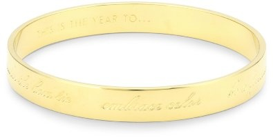 "Perfect. Amazon.com: Kate Spade New York ""This Is The Year To"" Gold-Tone Engraved Bracelet: Jewelry"