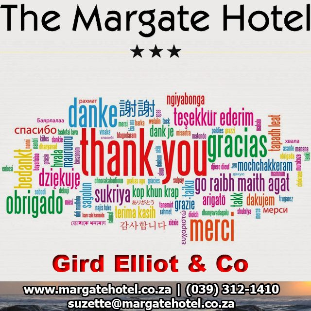 Thank you for choosing Margate Hotel as your preferred conference venue #MARGATEconference http://bit.ly/1NBkg44