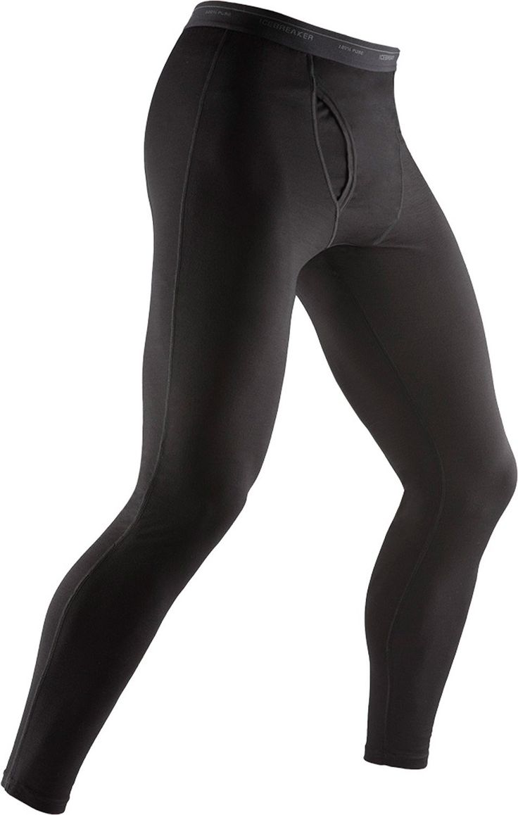 Icebreaker Oasis Leggings w/ Fly Baselayer Pants Black
