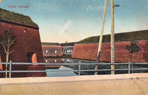 Zidurile Cetății Aradului la începutul secolului trecut