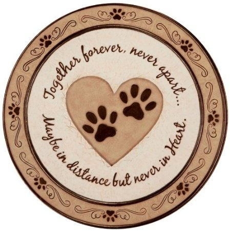 Amazon.com: Together forever, never apart... Pet Memorial Stepping Stone/Wall Plaque: Patio, Lawn & Garden