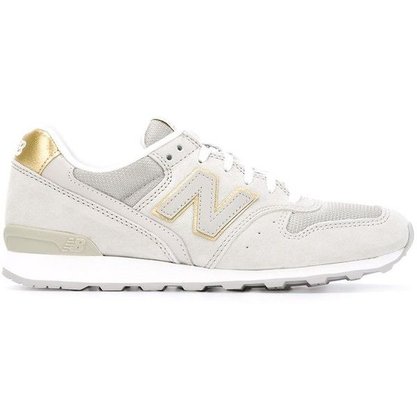 New Balance 996 Sneakers (€105) ❤ liked on Polyvore featuring shoes, sneakers, grey, new balance trainers, grey suede sneakers, gray sneakers, suede shoes and new balance