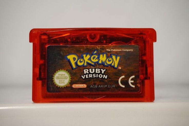 Pokemon  Ruby Version game boy advance gba (SAVE DATA), English EUR 4914