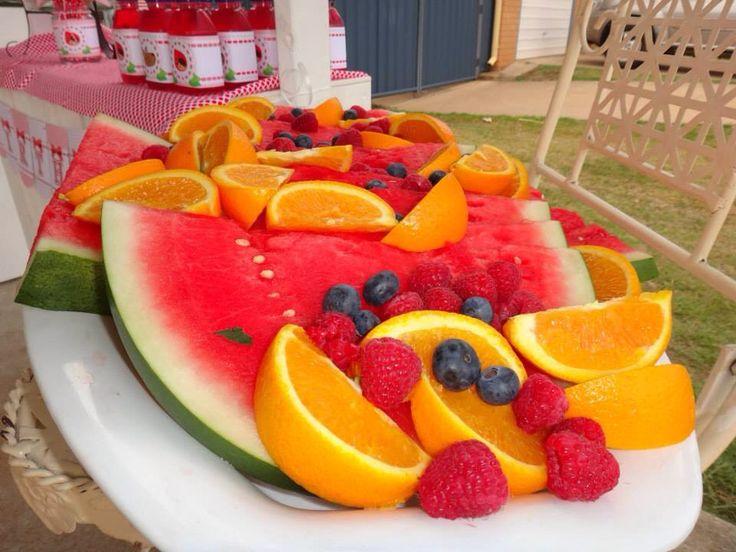 Fruit platter - red riding hood birthday