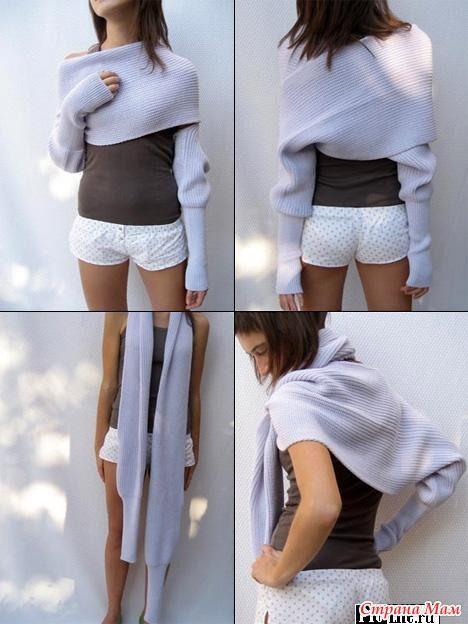Sweater-scarf Sciarpone