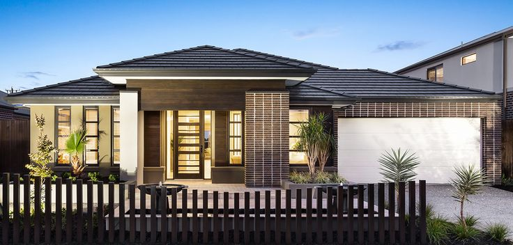 FAÇADE: Contemporary style and sophistication is highlighted through the use of stacked brickwork and warm timber elements. Visit our Resort Lookbook style here: http://www.metricon.com.au/get-inspired/lookbook/resort#sthash.jz35gEmI.dpuf