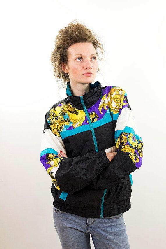 90s Windbreaker Women Tracksuit Jacket Bomber By