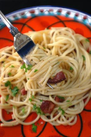 Barbara Adams Beyond Wonderful » Spaghetti Carbonara Italian Recipe