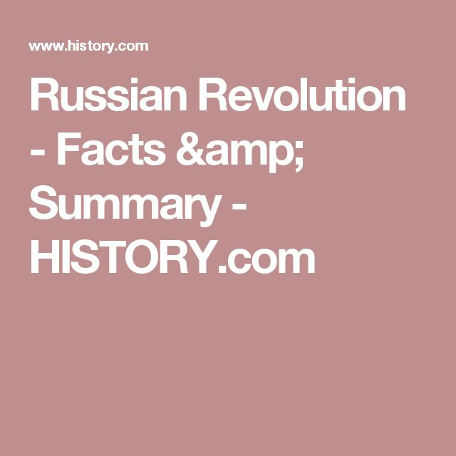 Russian Revolution - Facts & Summary - HISTORY.com