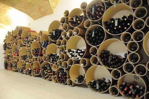 Rangement bouteilles rond