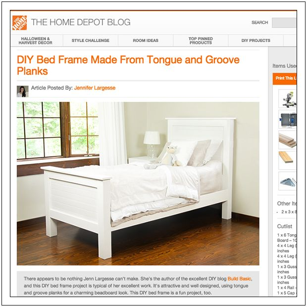 Homemade Bed Frame Pinterest