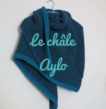 Tuto châle au tricot:un nouveau châle, variation des précédents mais cette fois-ci tricoté au point de mousse, dans un fil un poil plus épais, pour un effet doudou...