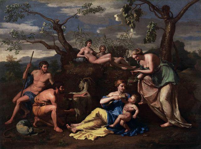 Νύμφες ταίζουν το Δία μωρό (1650)