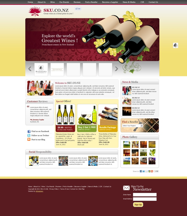 Product Portal for SKU, New Zealand by eDesigners
