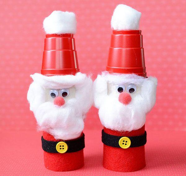 Babbo Natale con rotoli di carta n.1
