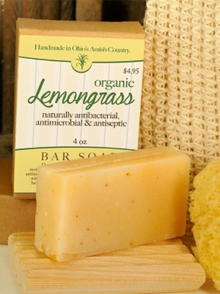 LemonGrass Antibacterial Antimicrobial Soap ~ All Natural Handmade in the USA #natural #antibacterial #soap