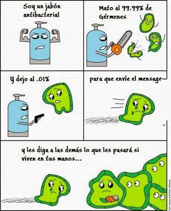 Soy un jabón antibacterial. #humor #risa #graciosas #chistosas #divertidas