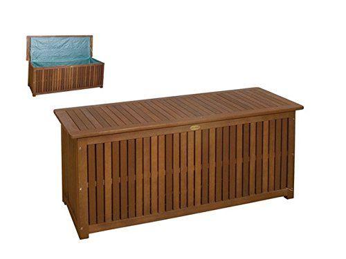 http://ift.tt/1S3hlnr Massive Auflagenbox Holz mit Innentasche Kissenbox Gartenbox Hartholz #enmaki$