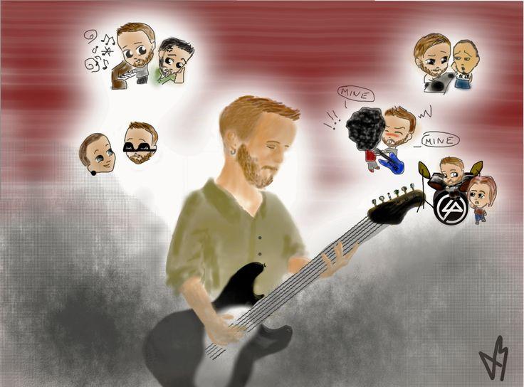 My very first pic made in computer #Birthday #LP #LinkinPark #Linkin #Park #Dave #Farrell #Pfoenix #Mike #Shinoda #Chester #Bennington #Rock #Guitar #Bass