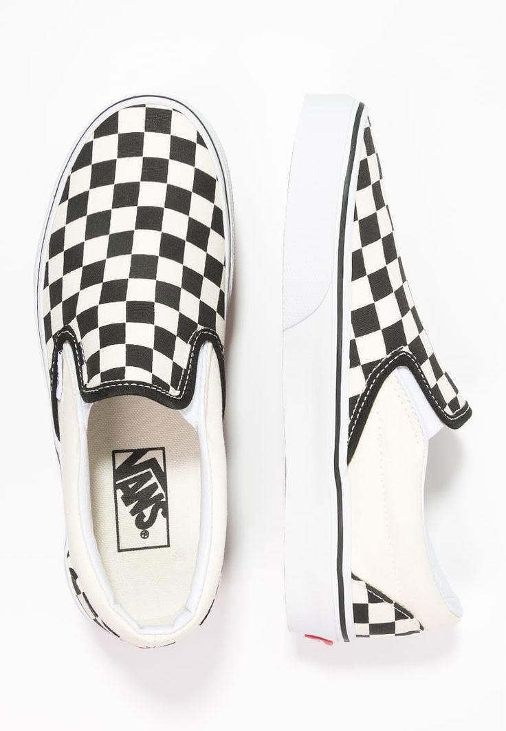 Vans CLASSIC - Loafers - black/white - Zalando.dk