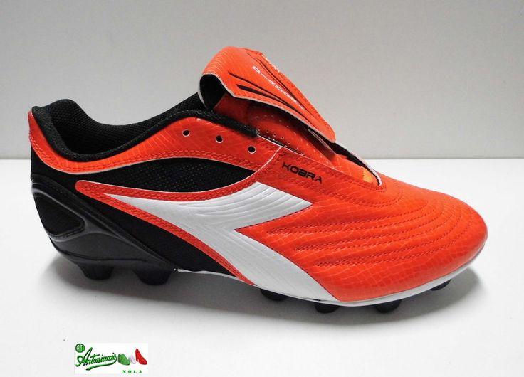 Scarpe calcio DIADORA KOBRA R MD 14 tacchetti gomma cucite arancio lucido