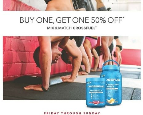 STOCK UP ON CROSSFUEL PRODUCTS! Crossfuel BOGO at GNC! - July 15th - July 17th 2016 - GNC Canada - Fitness - Health - Workout - Exercise - Athletes - Gym life