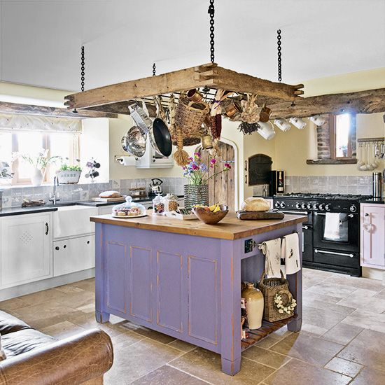 1000 ideas about pan rack on pinterest pot racks for Country kitchen designs on a budget
