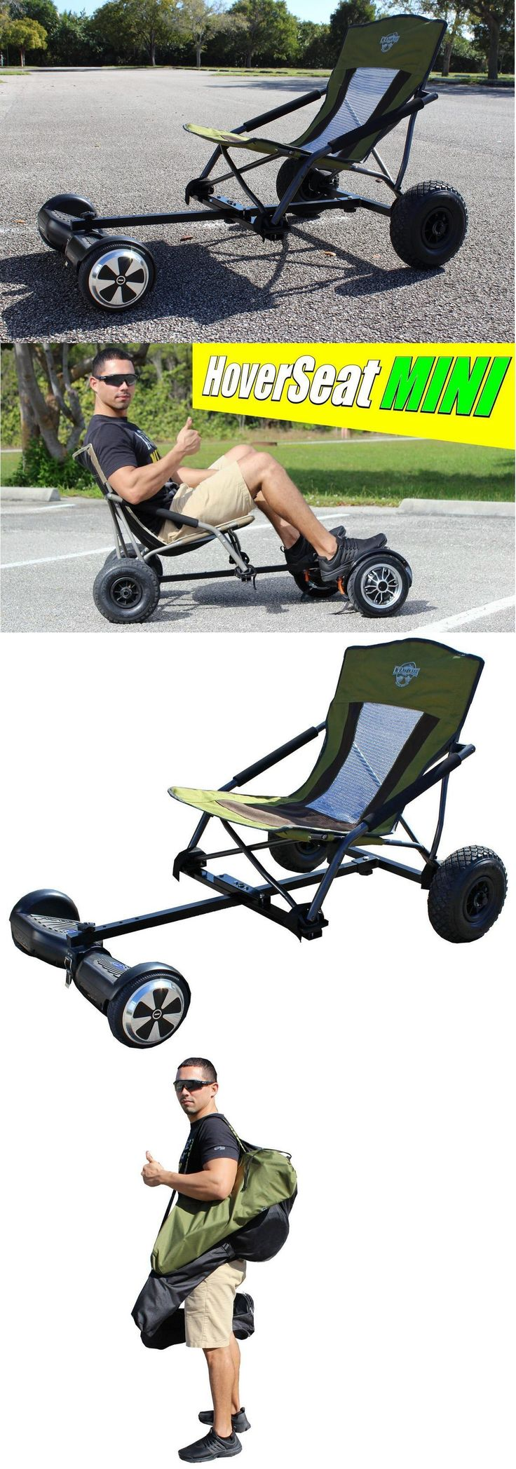 Other Scooters 11329: Hoverseat Seat Mini Hovercart Hoverkart Hover Cart Gokart BUY IT NOW ONLY: $139.0