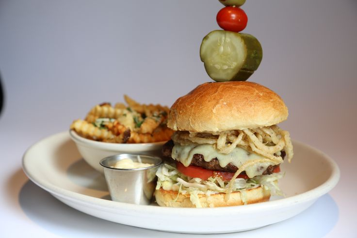 #Kobe Burger is brand new & workin' it for a food photo shoot. Our Malone's #Menu is also brand new & awaiting your arrival!