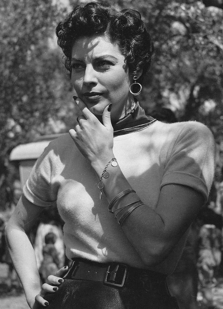 "gatabella: ""Ava Gardner on the set of The Barefoot Contessa, Italy, 1954 """