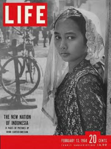 The New Nation of Indonesia | LIFE Magazine February 13, 1950 | In this issue there are 14 pages of pictures by Henri Cartier-Bresson about Indonesia