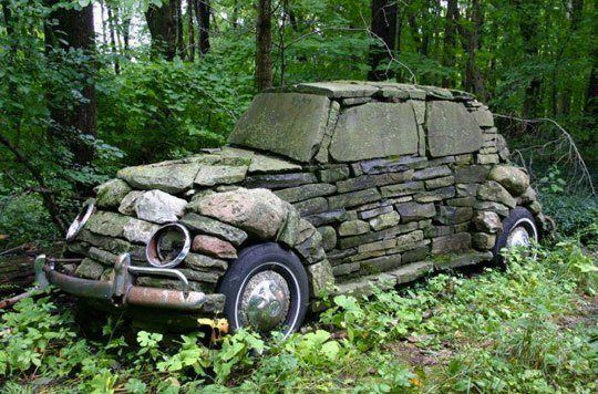 Vintage car (from the Stone Age???) hahaha