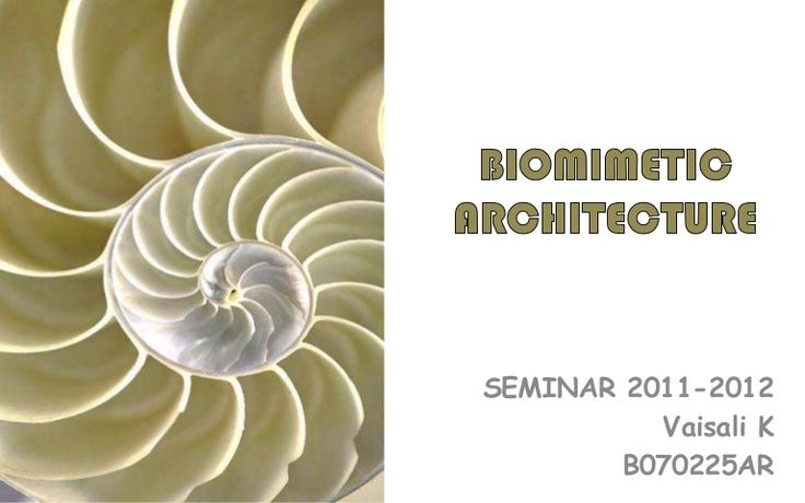 biomimetic-architecture by vaisalik via Slideshare