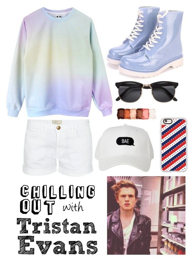 """Chillin' with Tristan Evans"" by beatrigitaa on Polyvore featuring Current/Elliott, Casetify and NYX"