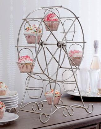 Ferris wheel, cupcake holder. I want one!