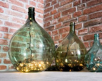 Old carboy, demijhon blown glass