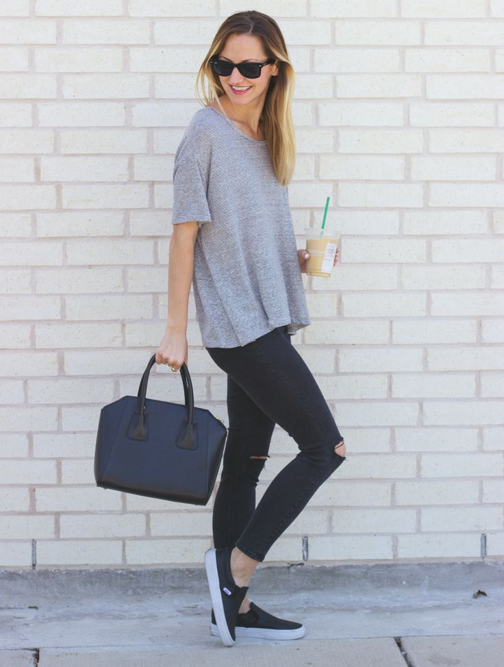 Casual Tee & Slip-On Sneakers | LivvyLand|Austin Fashion & Style Blog by Olivia Watson