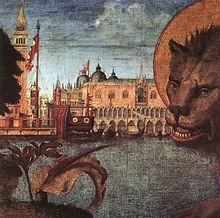 Vittore Carpaccio - Leone di San Marco dettaglio