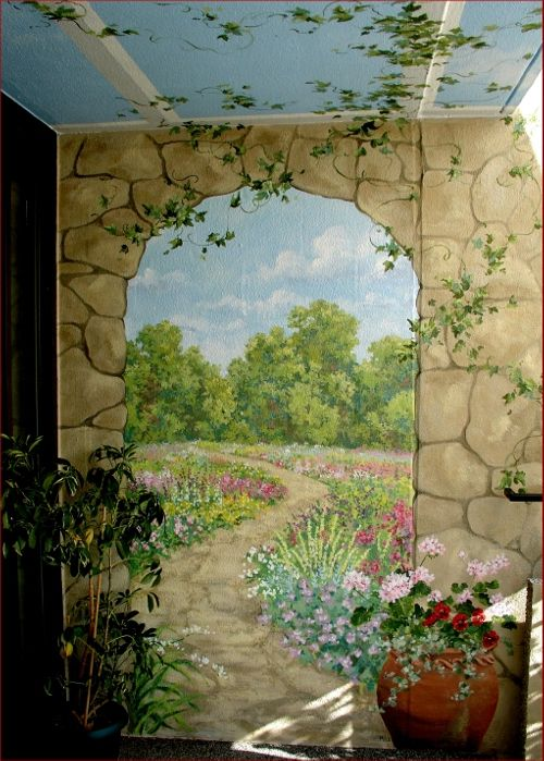 1000 ideas about garden mural on pinterest murals for Antique wallpaper mural