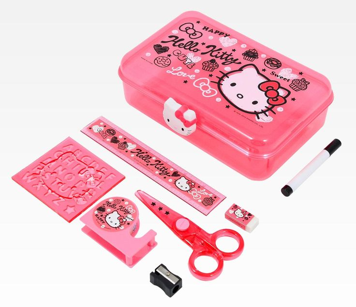 Hello Kitty School Supply Set Squiggle In Home Office Stationery At Sanrio