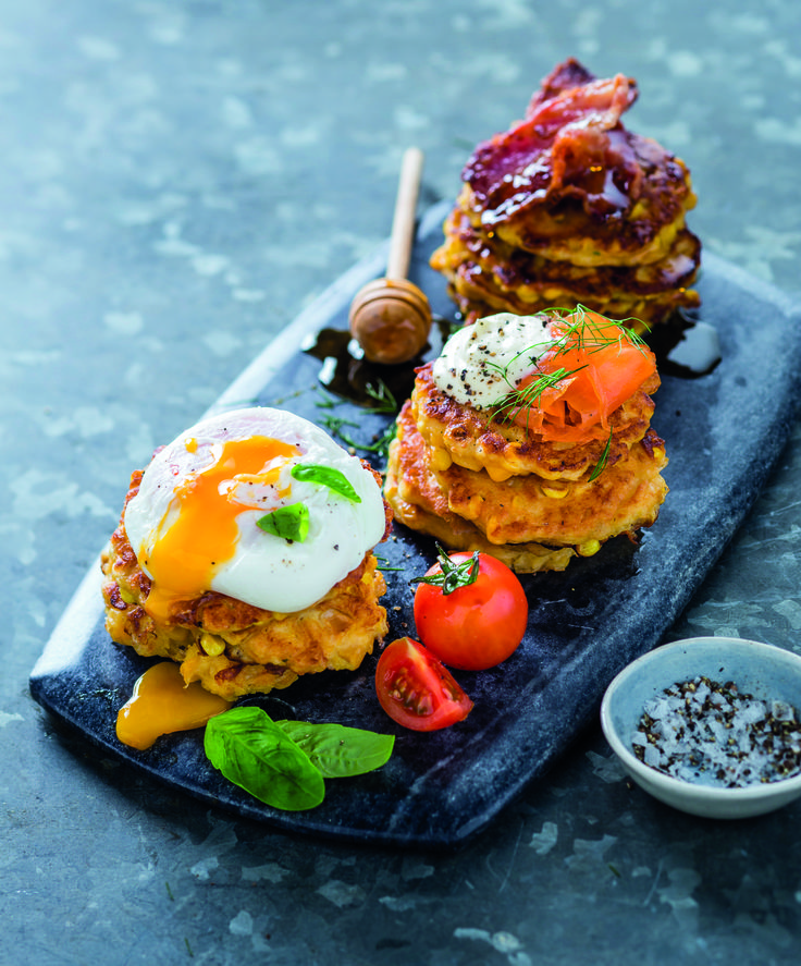 Deluxe corn fritters: great for breakfast, lunch or dinner!