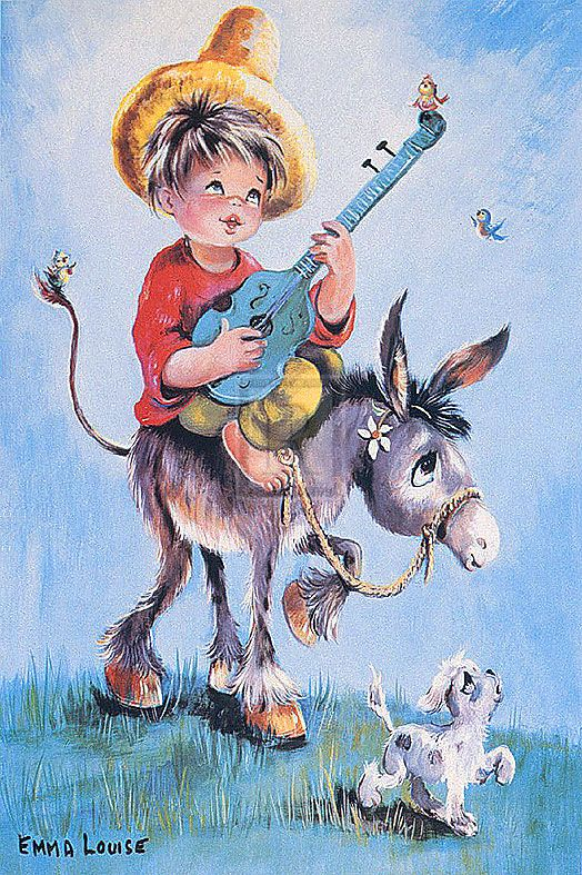 I had this picture on my bedroom wall when I was little