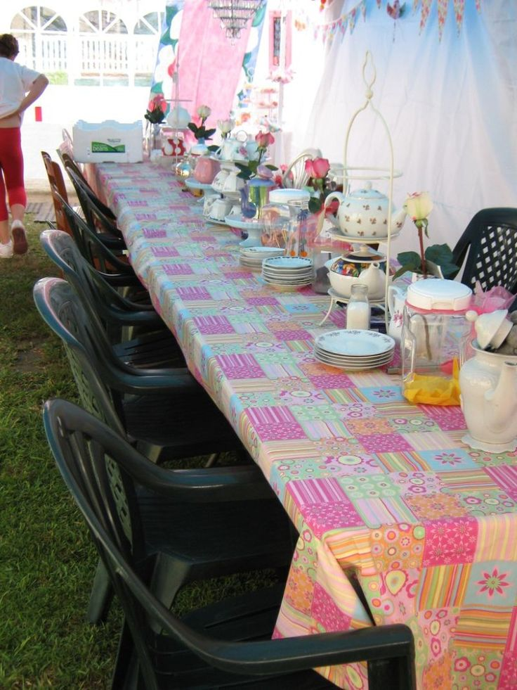 40 best Mad Hatter Tea Party Table Cloth Ideas images on Pinterest