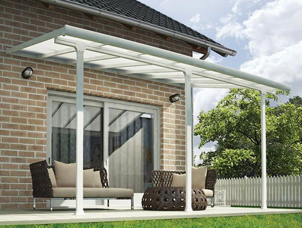 Enjoy your outdoors year-round with the Feria Patio Cover, a stylishly crafted sturdy addition to your outside living space.