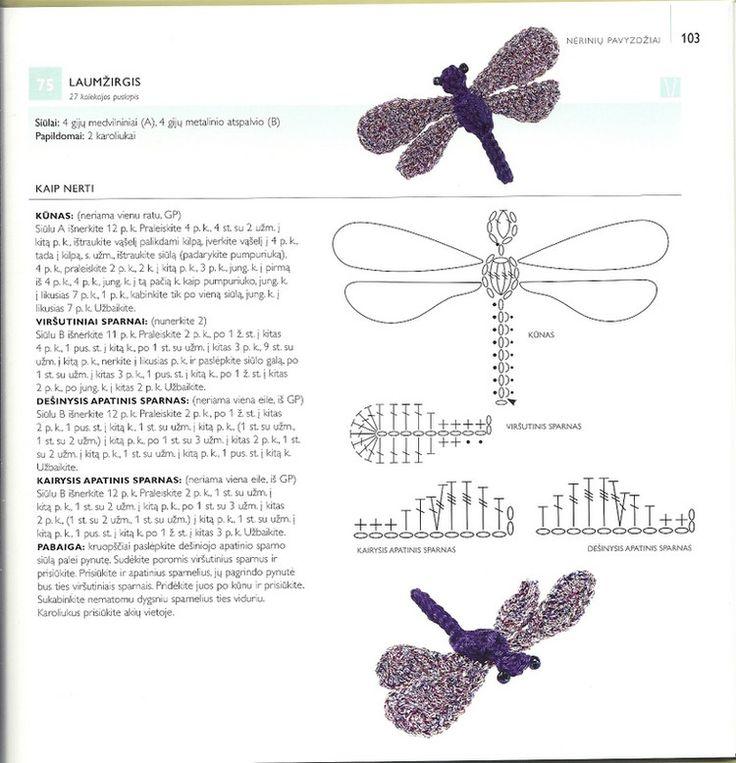 Crochet Drangonfly - Chart