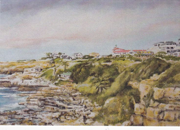 One of Leon Muller's pictures which were specially painted for Rossi's. #hermanus #rossis #artthirst #leonmuller