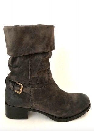 Kaufe meinen Artikel bei #Kleiderkreisel http://www.kleiderkreisel.de/damenschuhe/stiefelette/160344508-prada-stiefeletten-36-37-grau-braun-leder-stiefel-blockabsatz-biker-boots-brown